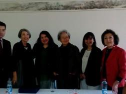 """La destacada escritora china de """"Faltan Palabras"""", Zhang Jie, visitó el el Colegio Yangtsé de La Reina"""